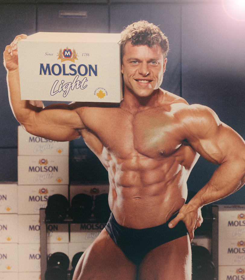 Molson Light muscle guy_